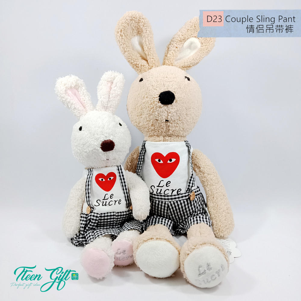 Cute  Le Sucre Rabbit Soft Plush Toy Anniversary Valentine Gifts
